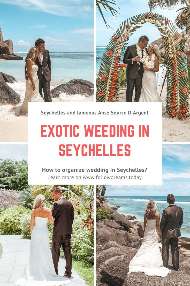 Amazing weeding in Seychelles La Digue
