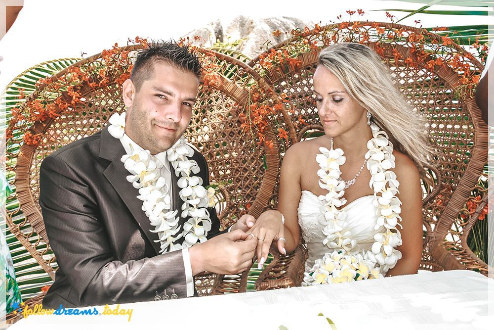 exotic wedding in paradise